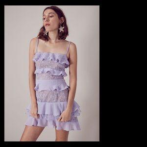 NWOT For Love and Lemons Cosmic Tiered Mini Dress